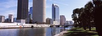 """Buildings viewed from the riverside, Hillsborough River, University Of Tampa, Tampa, Hillsborough County, Florida, USA by Panoramic Images - 27"""" x 9"""", FulcrumGallery.com brand"""