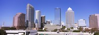 """Skyscraper in a city, Tampa, Hillsborough County, Florida, USA by Panoramic Images - 27"""" x 9"""""""