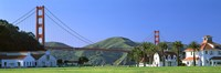 "Bridge viewed from a park, Golden Gate Bridge, Crissy Field, San Francisco, California, USA by Panoramic Images - 27"" x 9"""