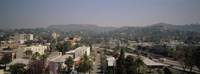 """Buildings in a city, Hollywood, City of Los Angeles, California, USA by Panoramic Images - 27"""" x 9"""""""