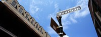 """Street name signboard on a pole, Bourbon Street, French Market, French Quarter, New Orleans, Louisiana, USA by Panoramic Images - 27"""" x 9"""""""