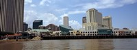 """Buildings viewed from the deck of a ferry, New Orleans, Louisiana, USA by Panoramic Images - 27"""" x 9"""", FulcrumGallery.com brand"""