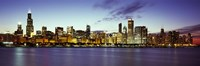 """Buildings at the waterfront, Lake Michigan, Chicago, Cook County, Illinois, USA by Panoramic Images - 27"""" x 9"""""""