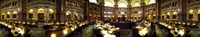 """Interiors of the main reading room of a library, Library Of Congress, Washington DC, USA by Panoramic Images - 27"""" x 9"""""""