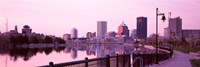 """Buildings at the waterfront, Genesee, Rochester, Monroe County, New York State by Panoramic Images - 27"""" x 9"""" - $28.99"""