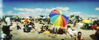 "Bright Umbrella on Coney Island by Panoramic Images - 27"" x 9"""