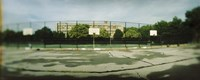 Basketball court in a public park, McCarran Park, Greenpoint, Brooklyn, New York City, New York State, USA Fine Art Print