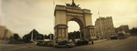 """War memorial, Soldiers And Sailors Memorial Arch, Prospect Park, Grand Army Plaza, Brooklyn, New York City, New York State, USA by Panoramic Images - 27"""" x 9"""""""
