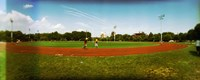 People jogging in a public park, McCarren Park, Greenpoint, Brooklyn, New York City, New York State, USA Fine Art Print