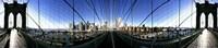 Mirror View of the Brooklyn Bridge