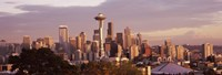 """Seattle skyline, King County, Washington State, USA 2010 by Panoramic Images, 2010 - 27"""" x 9"""""""
