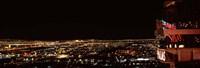 "Hotel lit up at night, Palms Casino Resort, Las Vegas, Nevada, USA 2010 by Panoramic Images, 2010 - 27"" x 9"" - $28.99"