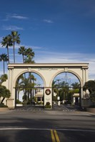 Entrance gate to a studio, Paramount Studios, Melrose Avenue, Hollywood, Los Angeles, California, USA Fine Art Print
