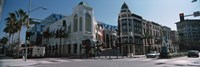 """Street Corner at Rodeo Drive, Beverly Hills, California by Panoramic Images - 27"""" x 9"""""""