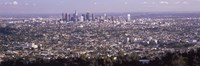 """Aerial View of Los Angeles from a Distance by Panoramic Images - 27"""" x 9"""""""