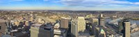 """Aerial view of a city, Cincinnati, Hamilton County, Ohio, USA 2010 by Panoramic Images, 2010 - 27"""" x 9"""""""