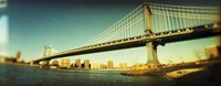 "Brooklyn Bridge In Front of Manhattan by Panoramic Images - 27"" x 9"""