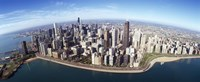 """Aerial view of a city, Chicago, Cook County, Illinois, USA 2010 by Panoramic Images, 2010 - 27"""" x 9"""""""