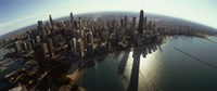 """Bird's eye view of Chicago, Cook County, Illinois, USA 2010 by Panoramic Images, 2010 - 27"""" x 9"""", FulcrumGallery.com brand"""