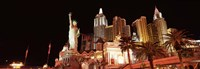 """New York New York Hotel at night, The Strip, Las Vegas, Nevada by Panoramic Images - 27"""" x 9"""" - $28.99"""