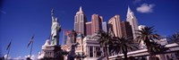 """Low angle view of a hotel, New York New York Hotel, Las Vegas, Nevada by Panoramic Images - 27"""" x 9"""""""