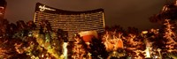 Hotel lit up at night, Wynn Las Vegas, The Strip, Las Vegas, Nevada, USA Fine Art Print