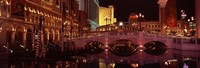 "Arch bridge across a lake, Las Vegas, Nevada, USA by Panoramic Images - 27"" x 9"""