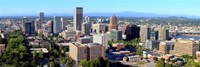 """High angle view of a cityscape, Portland, Multnomah County, Oregon by Panoramic Images - 27"""" x 9"""""""