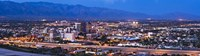 "City lit up at dusk, Tucson, Pima County, Arizona, USA 2010 by Panoramic Images, 2010 - 27"" x 9"""