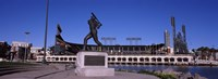 """Willie Mays statue in front of a baseball park, AT&T Park, 24 Willie Mays Plaza, San Francisco, California by Panoramic Images - 27"""" x 9"""""""
