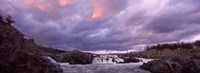 """Water falling into a river, Great Falls National Park, Potomac River, Washington DC, Virginia, USA by Panoramic Images - 27"""" x 9"""""""