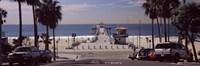 """Pier over an ocean, Manhattan Beach Pier, Manhattan Beach, Los Angeles County, California, USA by Panoramic Images - 27"""" x 9"""""""