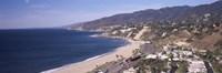 "High angle view of a beach, Highway 101, Malibu Beach, Malibu, Los Angeles County, California, USA by Panoramic Images - 27"" x 9"""