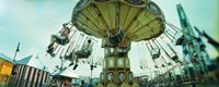 """Tourists riding on an amusement park ride, Lynn's Trapeze, Luna Park, Coney Island, Brooklyn, New York City, New York State, USA by Panoramic Images - 27"""" x 9"""""""
