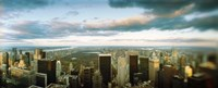 """Buildings in a city, Empire State Building, Manhattan, New York City, New York State, USA by Panoramic Images - 27"""" x 9"""""""