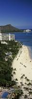 "Beach in Honolulu, Hawaii by Panoramic Images - 9"" x 27"", FulcrumGallery.com brand"