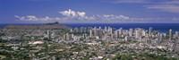 "View of a city, Honolulu, Oahu, Honolulu County, Hawaii, USA 2010 by Panoramic Images, 2010 - 27"" x 9"""