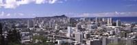"High angle view of a city, Honolulu, Oahu, Honolulu County, Hawaii, USA by Panoramic Images - 27"" x 9"""