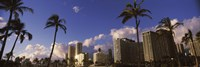 "Low angle view of skyscrapers, Honolulu, Hawaii, USA 2010 by Panoramic Images, 2010 - 27"" x 9"", FulcrumGallery.com brand"