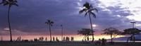 """Tourists on the beach, Honolulu, Oahu, Hawaii, USA by Panoramic Images - 27"""" x 9"""""""