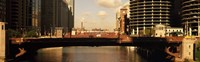 """Buildings at the waterfront, Marina Towers, Chicago River, Chicago, Cook County, Illinois, USA by Panoramic Images - 27"""" x 9"""""""