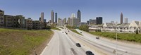 """Vehicles moving on the road leading towards the city, Atlanta, Georgia, USA by Panoramic Images - 27"""" x 9"""" - $28.99"""