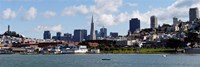 """City at the waterfront, Coit Tower, Telegraph Hill, San Francisco, California by Panoramic Images - 27"""" x 9"""""""