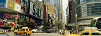 """42nd Street, Eighth Avenue, Times Square, Manhattan, New York by Panoramic Images - 27"""" x 9"""""""