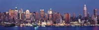 """Dusk, West Side, NYC, New York City, USA by Panoramic Images - 27"""" x 9"""""""