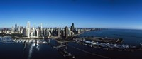 """Skyscrapers in a city, Willis Tower, Chicago, Cook County, Illinois by Panoramic Images - 27"""" x 9"""""""
