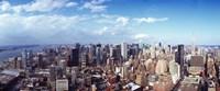 "Manhattan, New York City, 2011 by Panoramic Images, 2011 - 27"" x 9"""