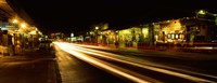 """Streaks of lights on the road in a city at night, Lahaina, Maui, Hawaii, USA by Panoramic Images - 27"""" x 9"""""""