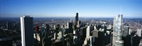 """Skyscrapers in a city, Trump Tower, Chicago, Cook County, Illinois, USA 2011 by Panoramic Images, 2011 - 27"""" x 9"""""""