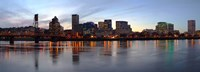 """Buildings at the waterfront, Portland, Multnomah County, Oregon by Panoramic Images - 27"""" x 9"""""""